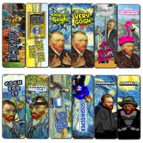 Creanoso Obsessed with Van Gogh Bookmarks Series 3 (60-Pack) – Six Assorted Quality Bookmarks Bulk Set – Premium Gift for Bibliophiles – Awesome Bookmarks Giveaways – Stocking Stuffers Gift Ideas
