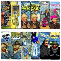 Creanoso Obsessed with Van Gogh Bookmarks Series 3 (30-Pack) – Unique Page Clips- Stocking Stuffers Gift for Painters, Artists, Bookworm – Book Reading Supplies – Employee Incentives Rewards