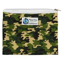 Planet Wise Reusable Zipper Sandwich and Snack Bags, Sandwich, Camo Poly
