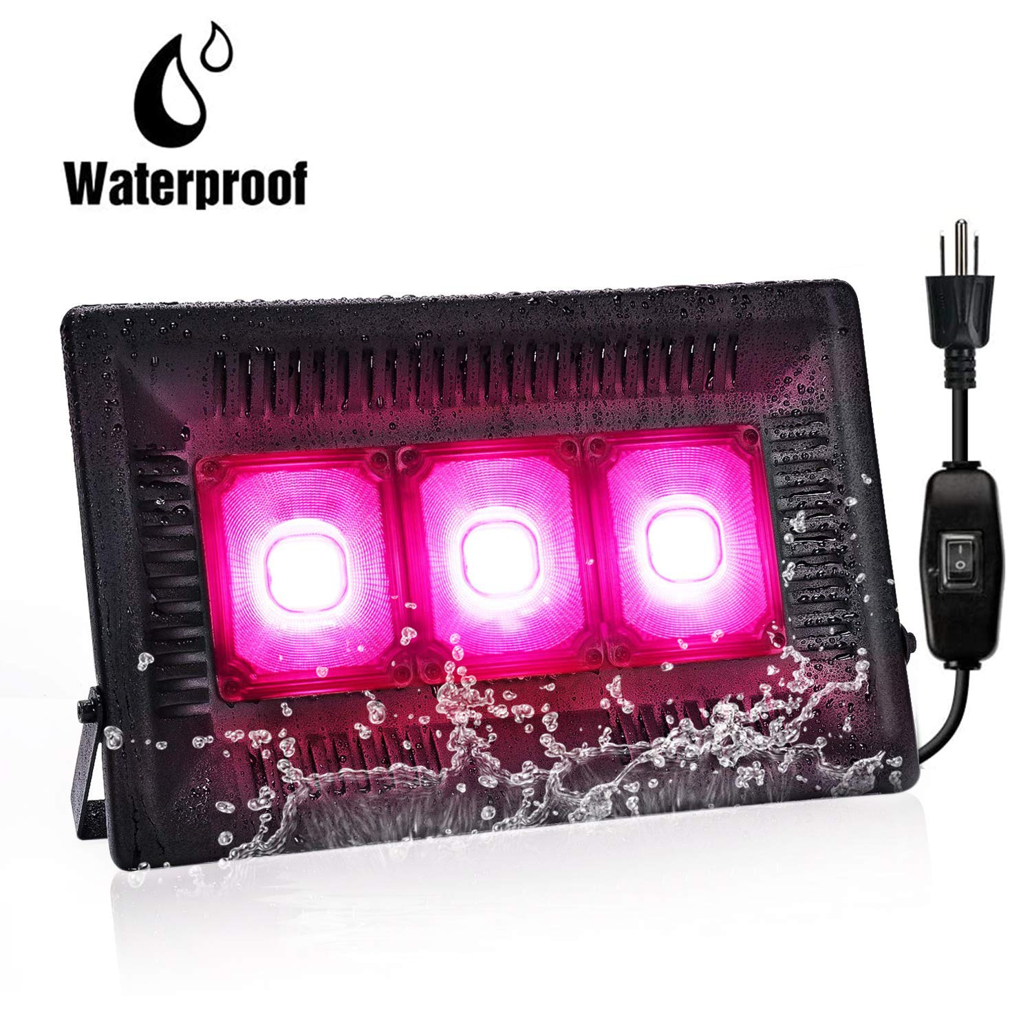 Bozily 450W Waterproof COB Led Grow Light, Full Spectrum Grow Lights,Plant Grow Light with Natural Heat Dissipation,Refugium Light for Indoor Outdoor Plants,Seedling,Growing,Blooming and Fruiting