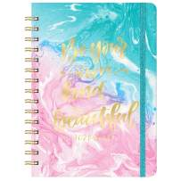 "2021-2022 Planner - Weekly & Monthly Academic Planner Jul 2021 - Jun 2022 with Monthly Tabs, 6.4""x 8.5"", Elastic Closure, Back Pocket, Twin-Wire Binding,Easy for Your Writing,Perfect for Your Life"