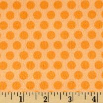 E.Z Fabric Minky 2 Tone Dot Orange Fabric By The Yard