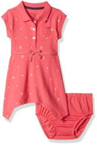 Nautica Bab Girls' Newborn Shawl Collar Pique Dress