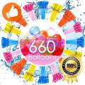 Water Balloons for Kids Girls Boys Balloons Set Party Games Quick Fill 660 Balloons 18 Bunches for Swimming Pool Outdoor Summer Fun MV1