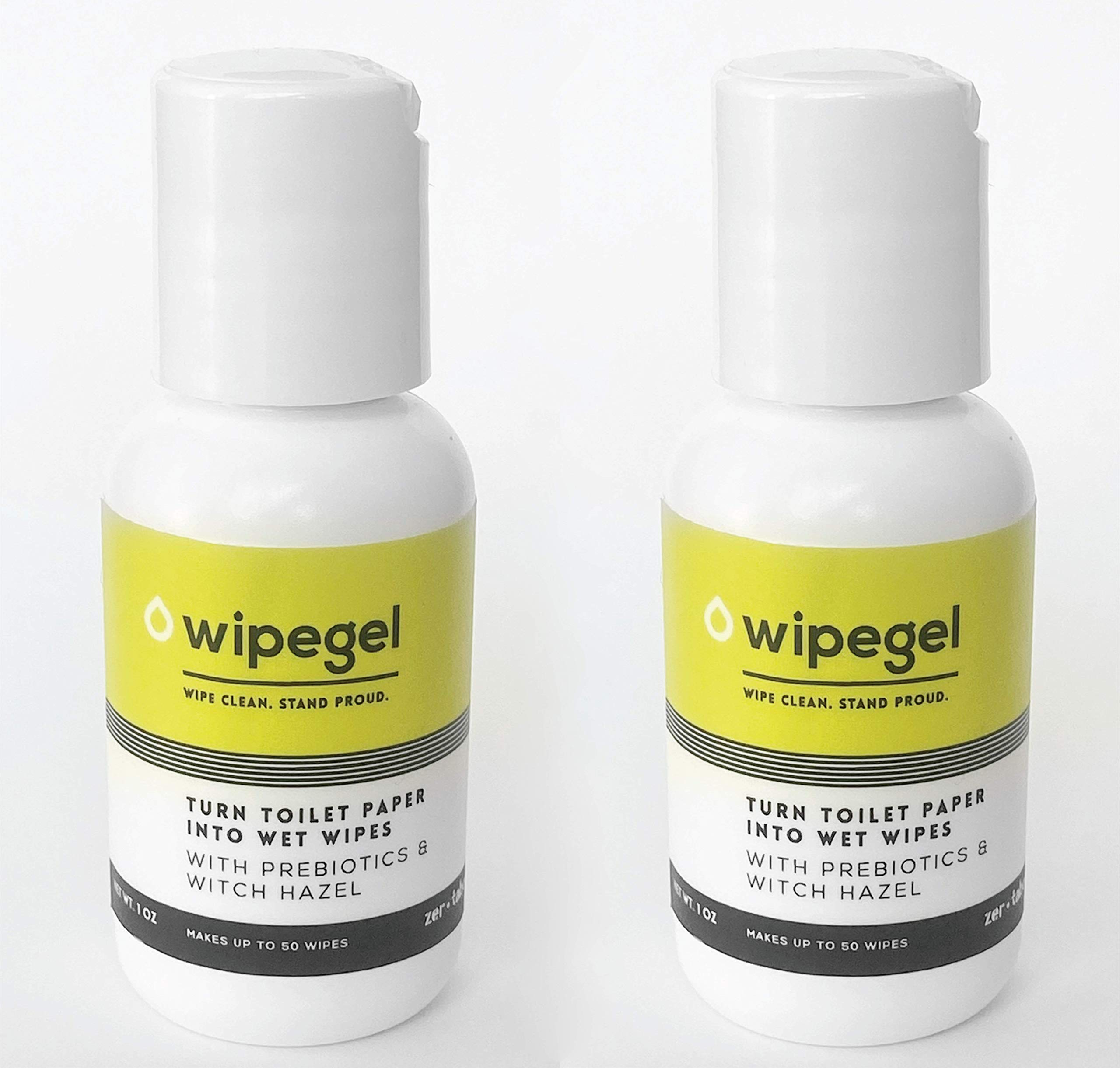 Wipegel: Travel Size. Pack of 2, Makes up to 100 Wipes