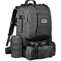 NOOLA Military Tactical Backpack Molle Bag Army Assault Pack Built-up Rucksack