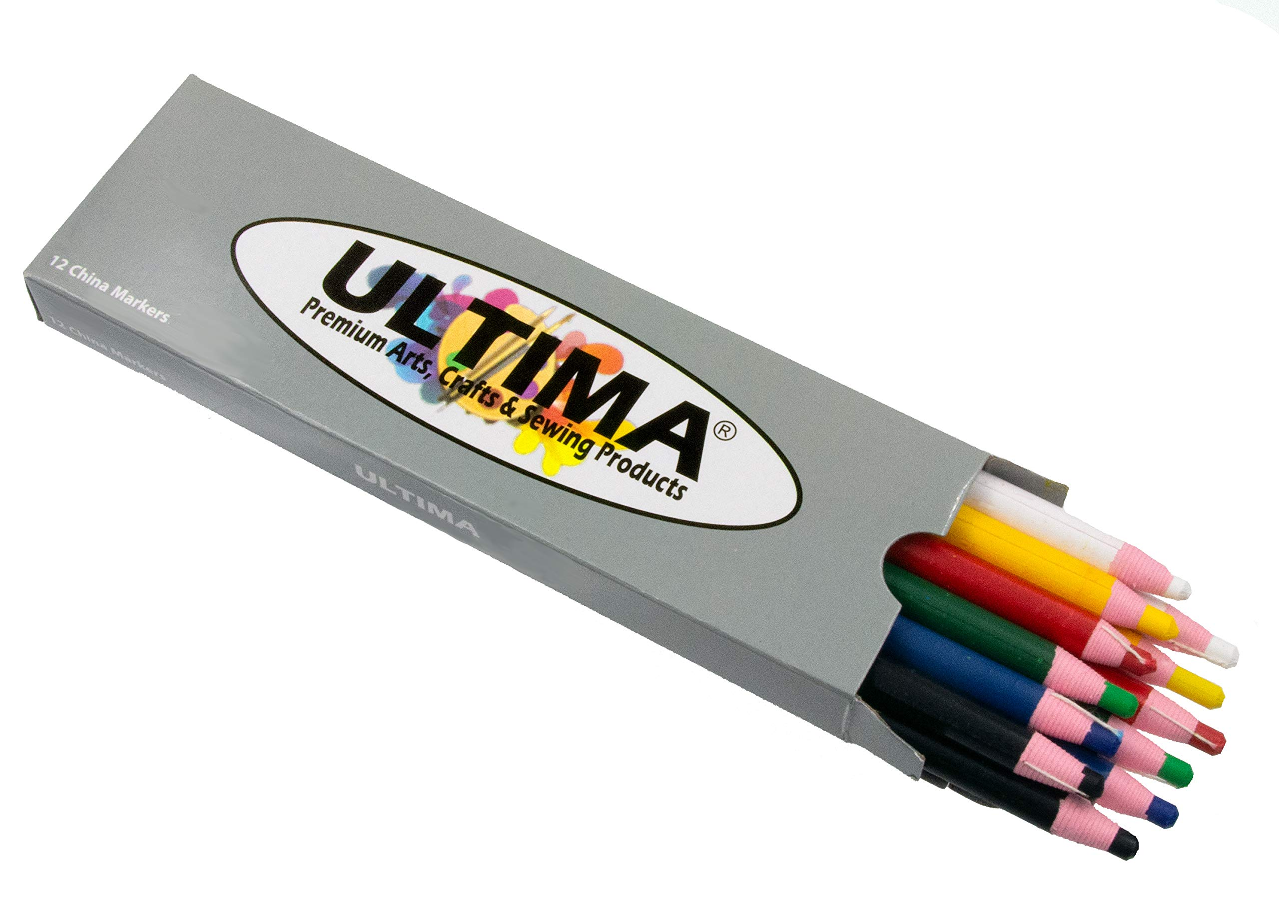 Ultima China Marker – Peel-Off Grease Pencil/Wax Pencil – Leaves Opaque, Easy to Remove Markings on all Glazed, Non-Porous & Polished Surfaces (Assorted)