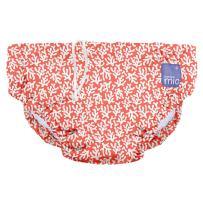 Bambino Mio, Reusable Swim Diaper, Medium (6-12 Months), Coral Reef