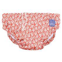Bambino Mio, Reusable Swim Diaper, Small (0-6 Months), Coral Reef