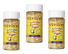 Garlic Gold Organic Nuggets, Roasted Garlic Seasoning bits with Parmesan Cheese, Free of MSG, Keto & Paleo friendly 2.2-Oz Shaker Jar (Pack of 3)