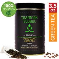 Teamonk Meho Nilgiri Clove Green Loose Leaf (50 Cups) | Premium Green Tea | Weight Loss Tea | Slimming Tea | Helps Improve Digestion | Natural Clove Tea | Pure Loose Leaf Tea | No Additives - 3.5oz