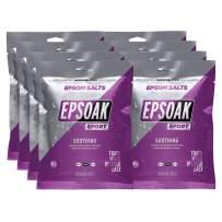 Epsoak Sport Epsom Salt for Athletes - Soothing - QTY. 8, 8 oz. Pouches