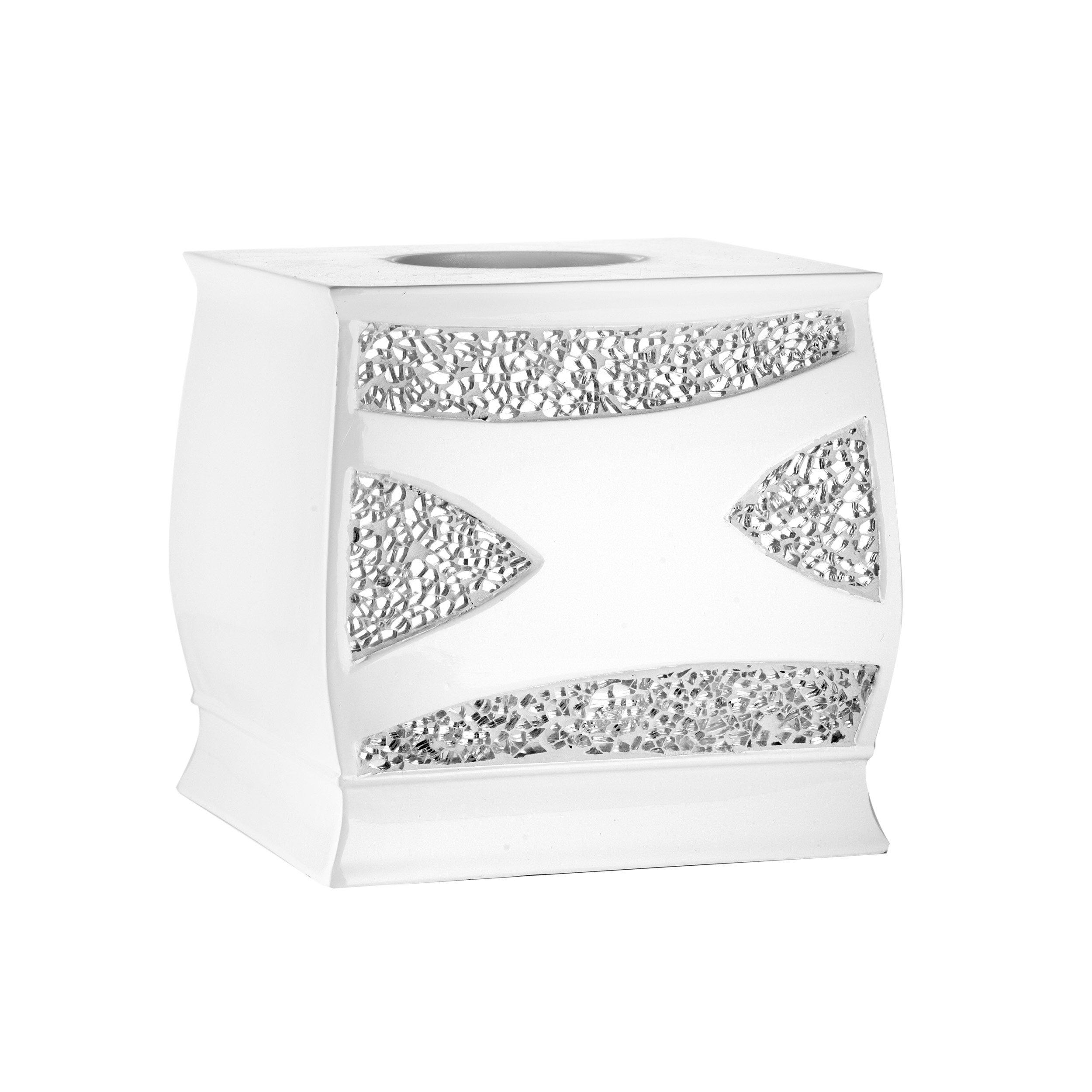 Popular Bath Tissue Box, Sinatra Collection, White