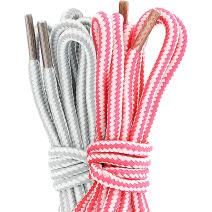 (2 PACK PAIRS) DailyShoes Round Hiking Shoelaces, Strong Durable, Susurrous Dalliance
