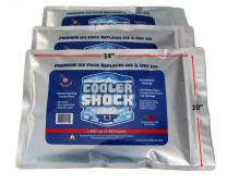 Cooler Shock 3X Lg. Zero°F Cooler Freeze Packs 10x14 inch - No More Ice Replaces Ice and is Reusable - Easy Fill - Add Water and Save! - 12lbs Total - Made in The USA