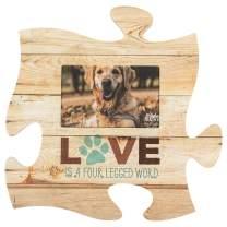 P. Graham Dunn Love is a Four Legged Word 12 x 12 Wood Wall Art Puzzle Piece 4x6 Frame Plaque