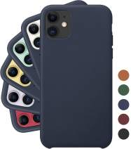 LONLI Classic | Genuine Nappa Leather Case for iPhone 11 - Midnight Blue