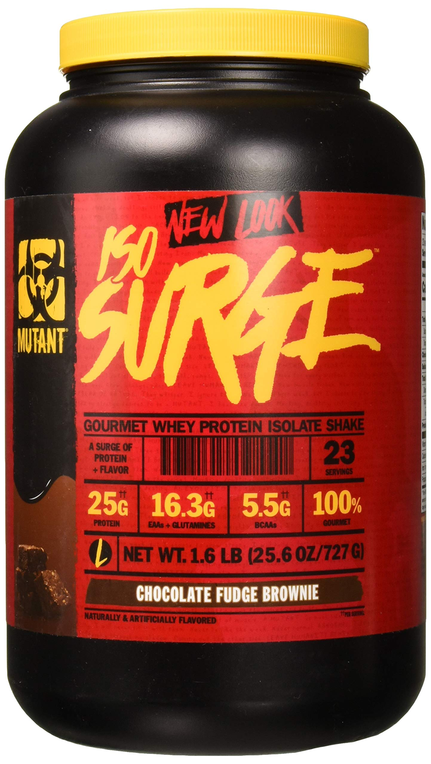 Mutant ISO Surge Whey Protein Powder Acts Fast to Help Recover, Build Muscle, Bulk and Strength, Uses Only High Quality Ingredients, 1.6 lb - Chocolate Fudge Brownie