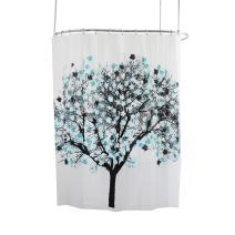 Splash Home EVA 5G Shower curtain Liner Design for Bathroom Shower and Bathtubs - Free of PVC Chlorine and Chemical Smell - Non-Toxic and Eco-Friendly - 100% Waterproof - Foliage Blue