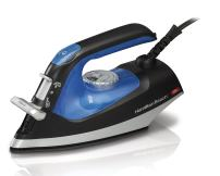 Hamilton Beach Iron 2-in-1 Handheld Iron & Garment Steamer for Clothes with Continuous Steam Nozzle, Nonstick Soleplate, 1200 Watts, Blue/Black (14525)