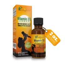 Vitamin D3 Liquid Drops for Infants - Liquid Vitamin D for Baby - Organic Max Absorption D3 Drops Formula for Newborn, Toddlers, Kids and Adults - Easy Dosage 1 Drop = 400IU