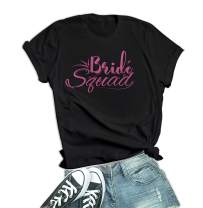 Decrum Bride Squad Shirts - Just Married & Engagement Gifts for Her