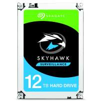 Seagate Skyhawk 12TB Surveillance Internal Hard Drive HDD – 3.5 Inch SATA 6Gb/s 256MB Cache for DVR NVR Security Camera System with Drive Health Management – Frustration Free Packaging (ST12000VX0008)