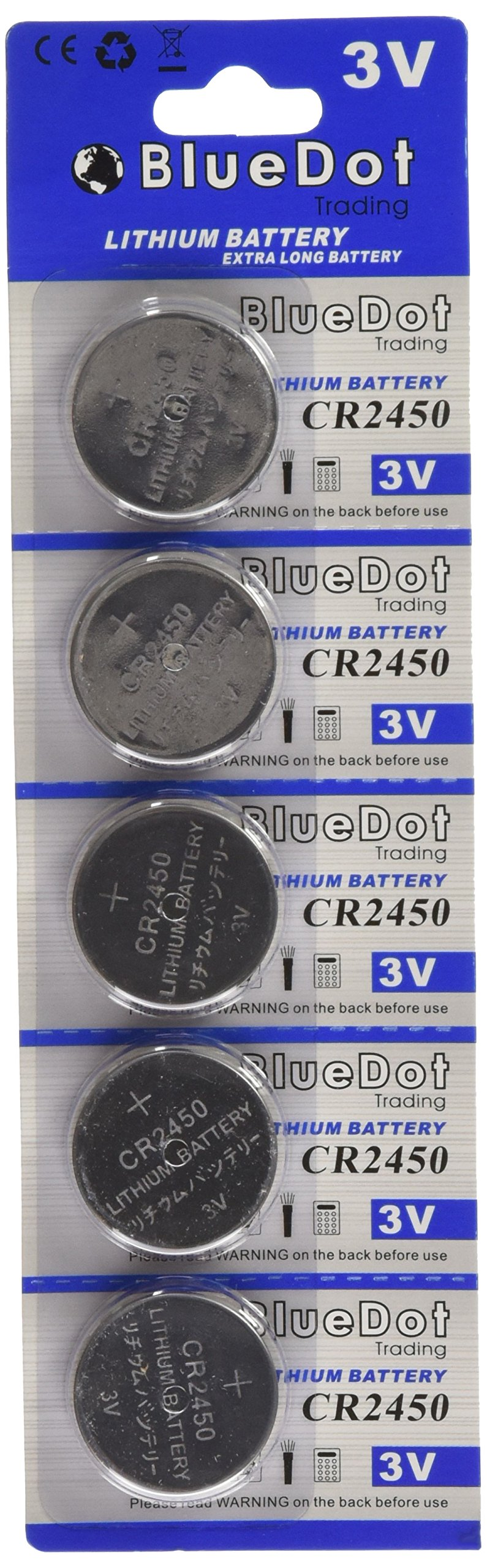 BlueDot Trading CR2450 Lithium Cell Battery, 50 Count