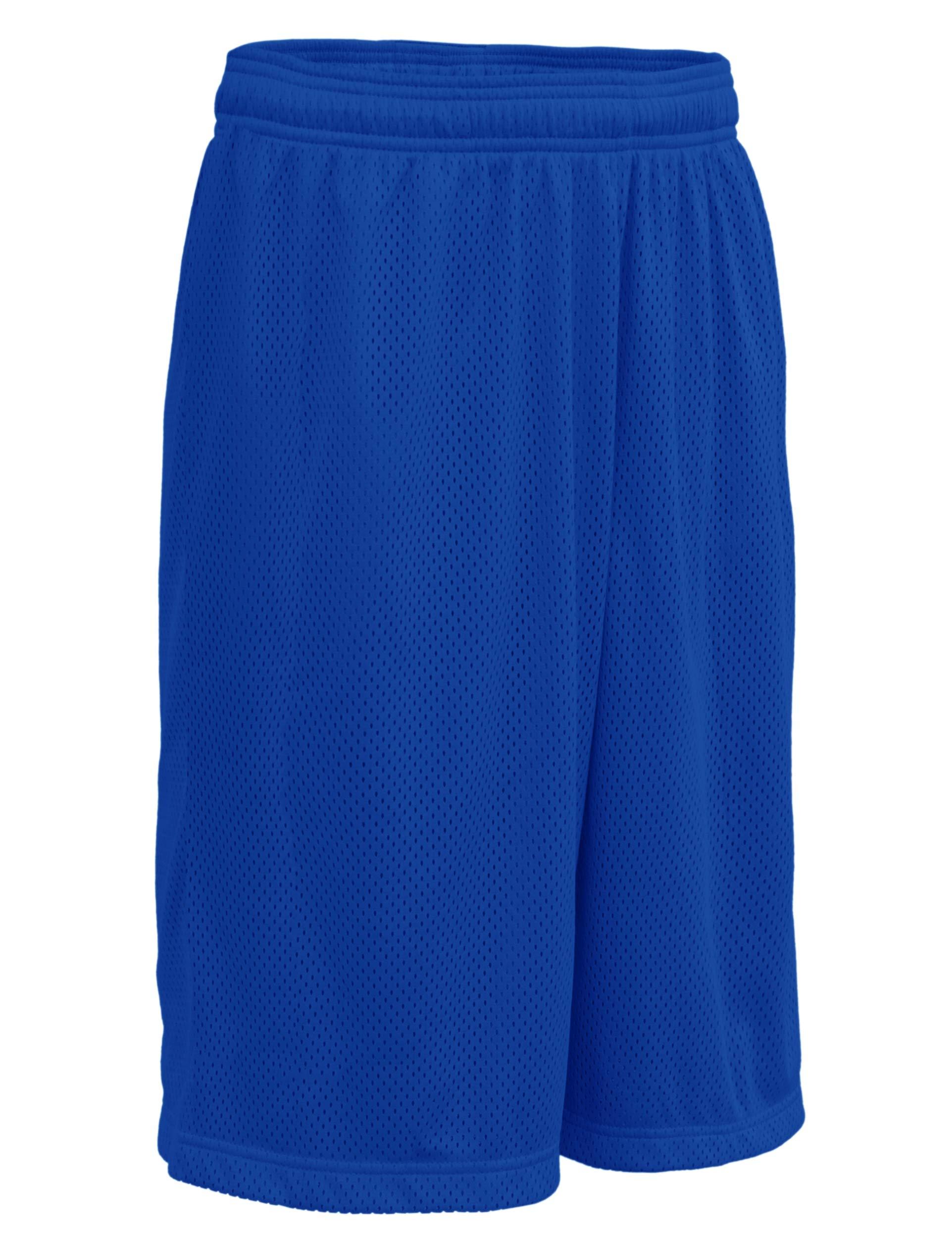 ViiViiKay Men's Athletic Basketball Shorts - Mesh Workout Gym Shorts with Pocket MESH_Royal 3XL