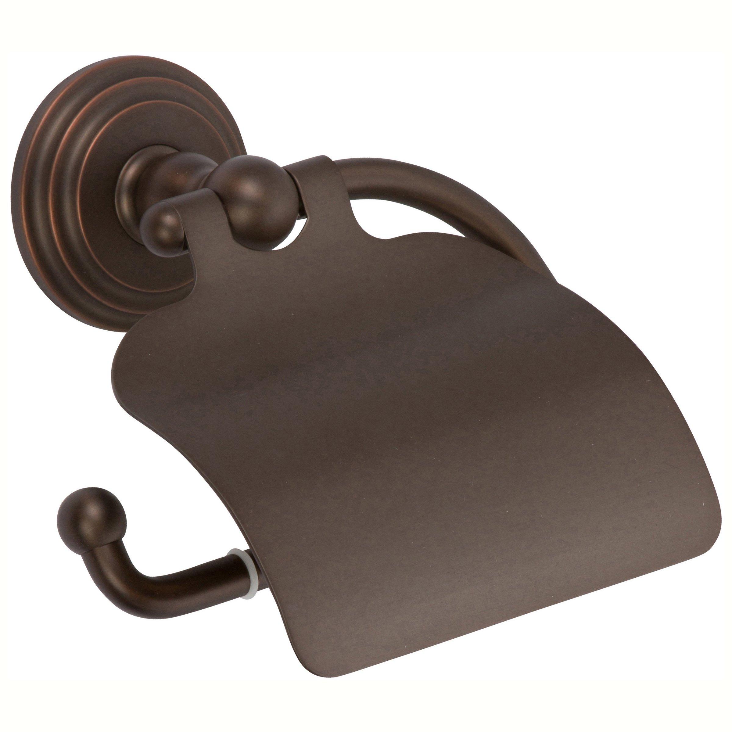 Ginger 1127/ORB Chelsea Single-Post Toilet Paper Holder, Hooded Tissue, Oil Rubbed Bronze