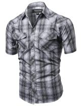 Youstar Men's Western Casual Button Down Shirt