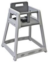 "Koala Kare KB850-01-KD Diner Plastic High Chair, Gray (Unassembled), 5"" Height, 27.25"" Width, 21.875"" Length"