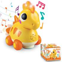 JOYIN Musical Dinosaur Toy with Sounds and Lights for Infants, Babies & Toddlers Interactive Learning Development