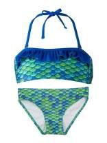Fin Fun, Bandeau Bikini Set, Aussie Green Top, Aussie Green Bottom, Girl's Large