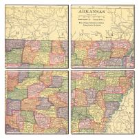 Arkansas Coaster of Vintage Map (Set of 4)