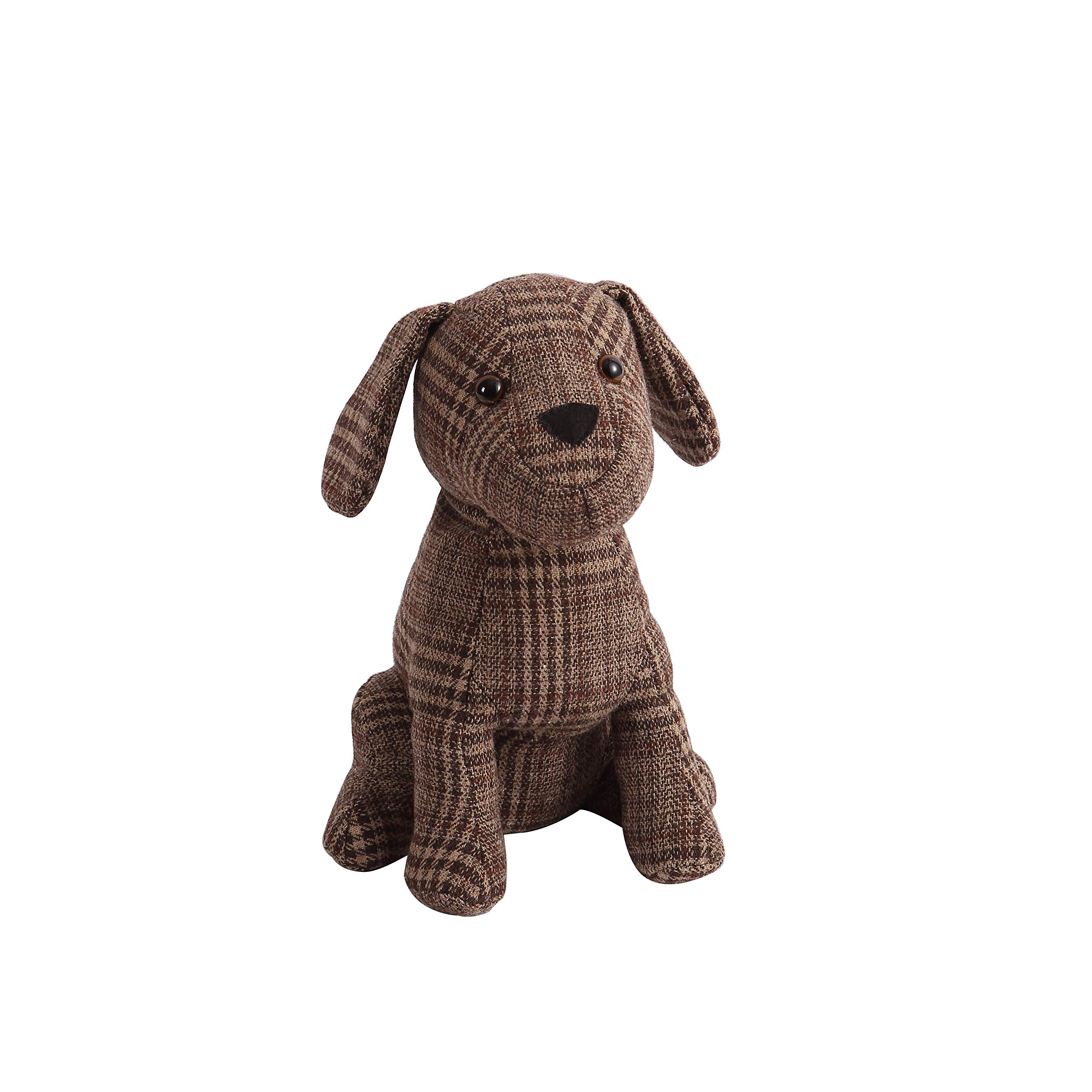 Decorative Door Stopper by Morgan Home – Available in Many Adorable Animals and Styles – Durable, Subtle Home Decor Easily Matches Measures Approx. 11 x 5.5 x 5.5 Inches (Brown Dog)