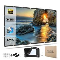 OWLENZ 120 inch Enhanced PVC Material Projector Screen 16:9 Ratio HD Foldable Portable Projection Movies Screen for Home Theater Outdoor Indoor Office (1.1 Gain, Easy to Clean, Waterproof)