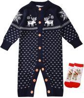 ZOEREA Unisex Newborn Baby Overall Long Sleeve Christmas Sweaters Coat Deer