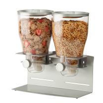 Zevro KCH-06149 Commercial Plus Dry Food Dispenser, Dual Control, Stainless Steel, Silver/Chrome