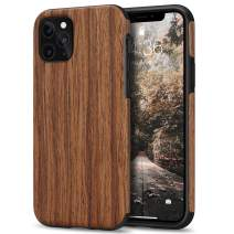 Tasikar Compatible with iPhone 11 Pro Max Case Easy Grip Wood Grain Design Compatible with iPhone 11 Pro Max (Redwood)