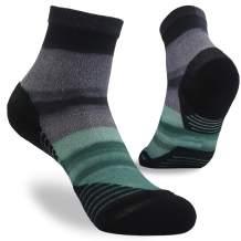 NIcool Unisex Digital Printed Wicking Quarter Hiking Running Athletic Socks