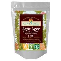 Agar Agar Powder | Vegan Gelatin Dietary Fiber Supplement - Vegan Unflavored (2 OZ)