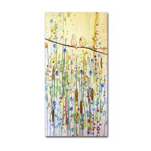 """Toi Et Moi by Sylvie Demers Wall Hanging, 16"""" x 32"""" Canvas Wall Art"""