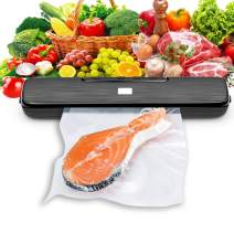 Vacuum Sealer Machine, Waterproof Automatic Food Sealer with Led Indicator Light, Dry, Moist, Point, Outer, Seal Five Food Preservation Modes Food Save Fresh up to 9x Longer, Free 15 Sealer Bags