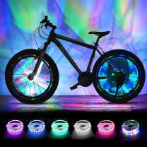 BRIONAC Rechargeable Bike Wheel Lights LED Bike Spoke Lights Cycling Wheel Safety Tire Light USB Charge Ultra Bright Waterproof Gifts for Boys Girls Adults