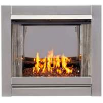 Bluegrass BL450SS-G-RCO Vent-Free Stainless Outdoor Gas Fireplace, Copper
