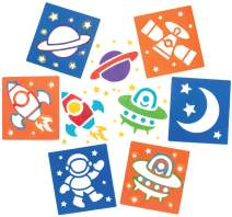 Baker Ross Solar System Stencil Set for Arts and Crafts — Novelty Toys for Kids, Perfect Party, Loot or Prize Bag Filler (Pack of 6)
