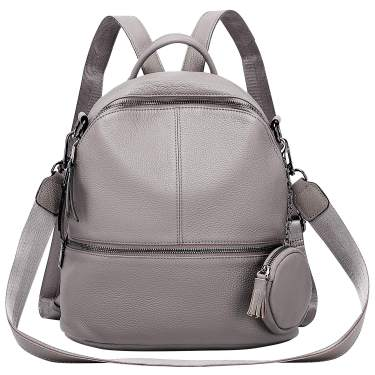 Convertible soft leather backpack for women