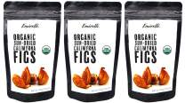 Emirelli Organic Calimyrna Figs, Vegan and Natural Sunny Fruits, Gluten Free Snacks, No Sugar Added and Non GMO, 7.05 OZ (200g) (Pack of 3)