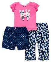 Little Me Girls' 3 Piece Set Pajama